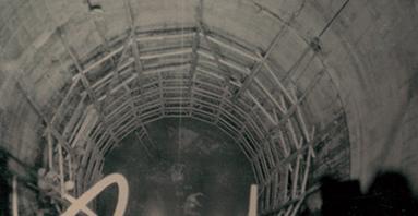 昭和41年頃 山上館エレベーター立抗工事